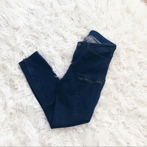 • Helmut Lang • Ankle Skinny Zipper Jeans 28